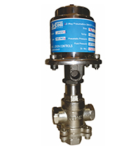 3 Way Pneumatics On/Off Control Valve Mixing